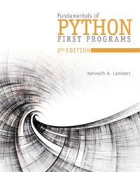 Fundamentals of Python: First Programs, 2nd Edition