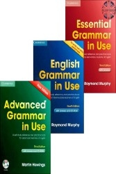 Grammar in Use by Cambridge (Essential, Intermediate and Advanced)